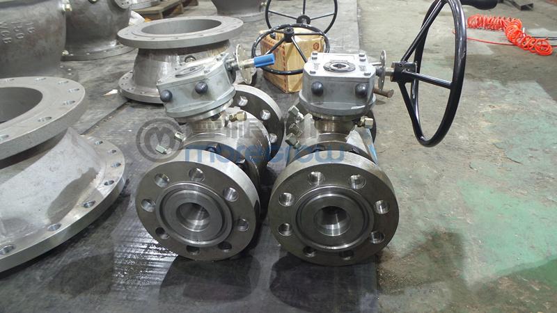 法兰连接 高压球阀操作方式:蜗轮 高压球阀主要功能:起 开关作用或图片